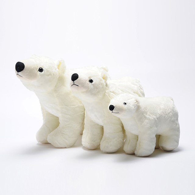 Standing Polar Bear Plush Toy Car Ornaments Birthday Gift To Send