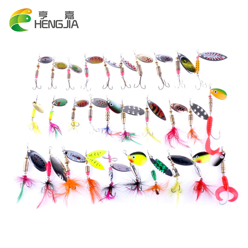 30PCS Spoon Fishing Lure Kits Hard ARTIFICIAL LURES MINNOW FISHING LURES Set Blade Fish Bait Cheap Tackle 10pcs 7 5cm soft lure silicone tiddler bait fluke fish fishing saltwater minnow spoon jigs fishing hooks
