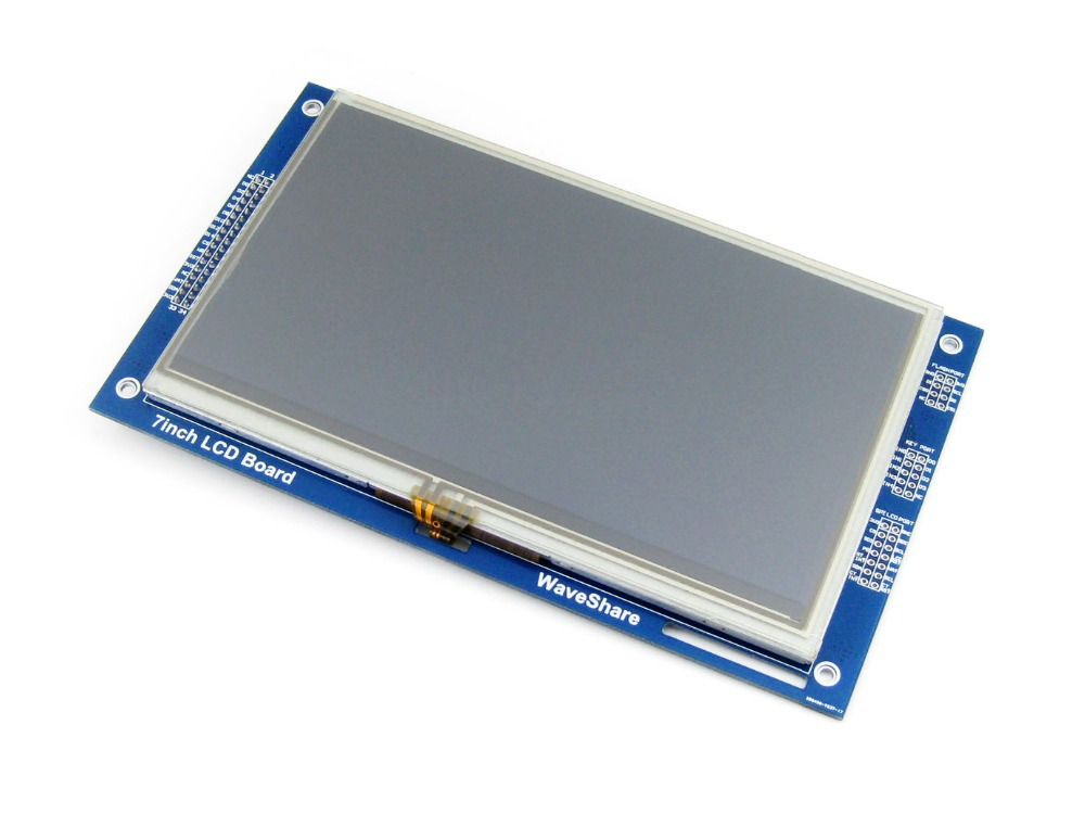Modules 7inch Resistive Touch LCD Display Module 800*480 Pixel Multicolor Screen RA8875 Controller Embedded 10KB Character ROM 8 4 8 inch industrial control lcd monitor vga dvi interface metal shell open frame non touch screen 800 600 4 3