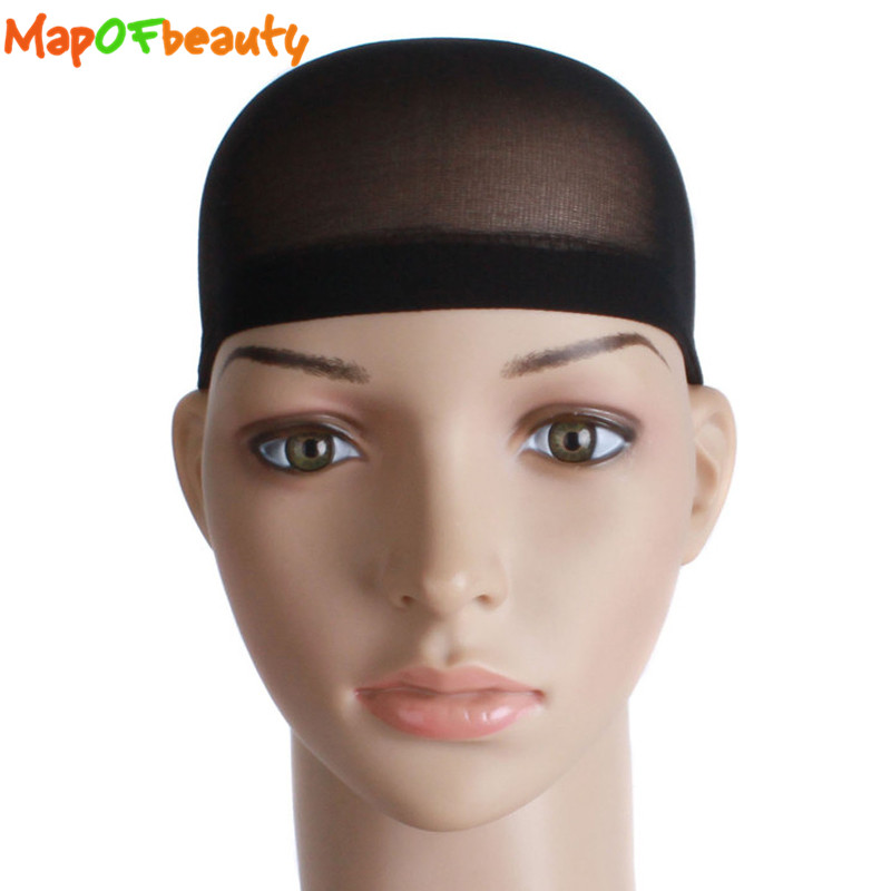 Intellective Mapofbeauty 10pcs/set Stretchable Cap Mesh Weaving Black Flesh Color Wig Hair Net Making Caps Hairnets Hair Mesh Synthetic Hair