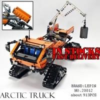 Lepin 20012 테크닉 시리즈 기계 그룹 극지 모험 차량 빌딩 블록 벽돌 장난감 세트 호환 42038