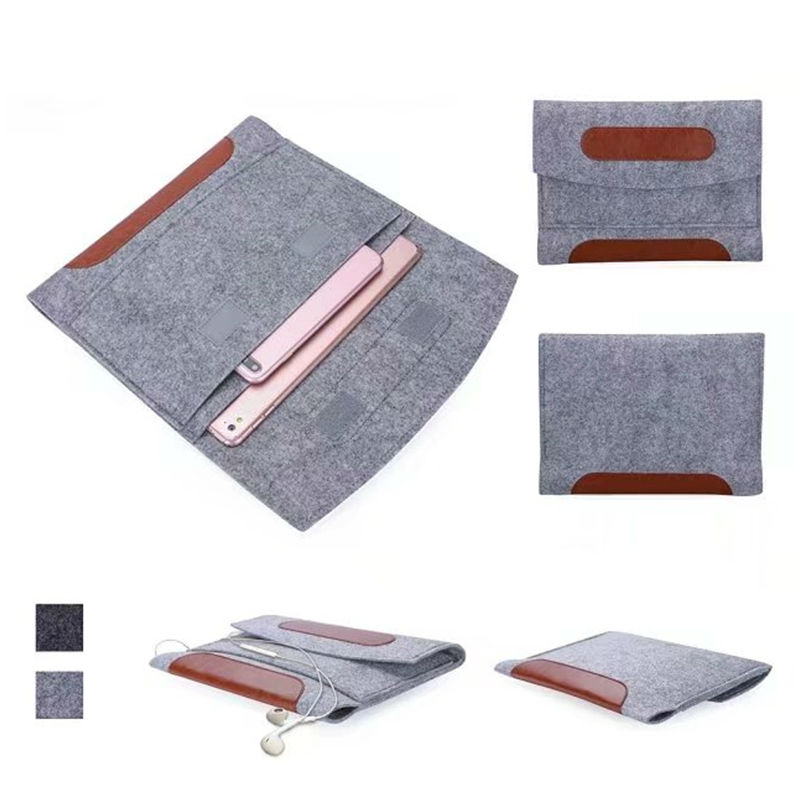 2017 Tablet Sleeve Pouch 9 10 inch Tablet Messenger Case Cover Wool Felt bag Fundas Skin For ipad 2017 new For iPad air 2 Pro waterproof zipper 10 inch 10 1 9 7 tablet netbook pc sleeve bag soft portable cover cases pouch for ipad air 9 7 1st 2 2nd 4th