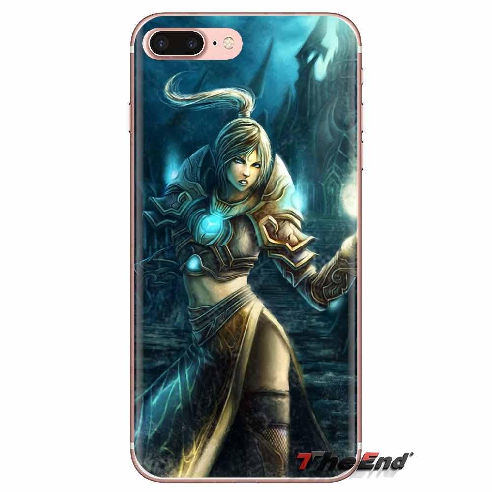 TPU Transparan Mencakup Dunia Warcrafts Dukun Imam Seni untuk Xiaomi Redmi 4A S2 Note 3 3S 4 4X5 Plus 6 7 6A Pro Pocophone F1