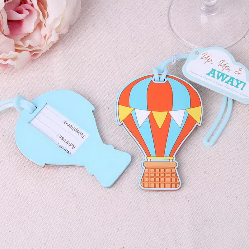 (100pcs/Lot)FREE SHIPPING+Up, Up & AwayHot Air Balloon Luggage Tag/Baggage Tags Summer Wedding Favors Party Giveaway For Guest