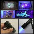 Car r134a R410 R12 automotive air conditioning repair tools 9 LED UV violet  fluorescent agent leak detection flashlight