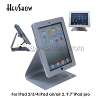 High Security Metal Tablet Display Stand,Desktop Bracket,Tablet Lock Holder Case,Anti theft Device System For ipad 2/3/4/Air