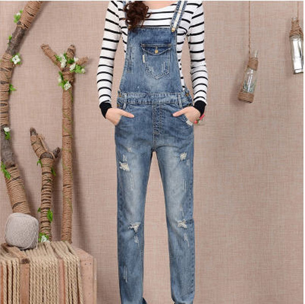 2015 New Fashion Women'S Overalls Trousers,Plus Sizes Women Casual Jeans Denim Suspenders Pants Jumpsuit Free Shipping Q548 plus size pants the spring new jeans pants suspenders ladies denim trousers elastic braces bib overalls for women dungarees