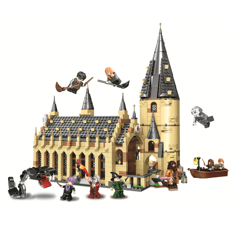 Harry Potter series Hogwarts Great Hall Express Building Blocks Bricks DIY Toys for children Gifts Compatible legoINGly 75954