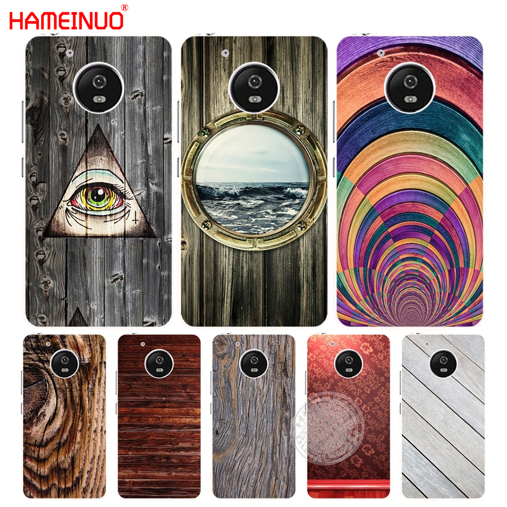 competitive price 4a1bb c59b7 US $1.93 34% OFF|HAMEINUO wooden wall case cover for For Motorola moto G6  G5 G4 PLAY PLUS ZUK Z2 pro-in Half-wrapped Case from Cellphones & ...