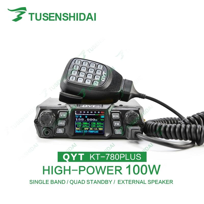 Brand New QYT KT-780PLUS 100W Max High-power Mobile Raido Dual Display VHF Car Radio