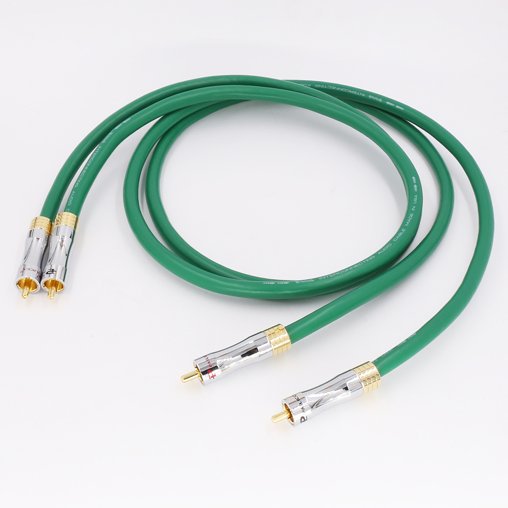 Free shiping <font><b>MCINTOSH</b></font> <font><b>2328</b></font> <font><b>2328</b></font> Pure Copper HiFi Audio cable RCA interconnect cable with audio signal wire image