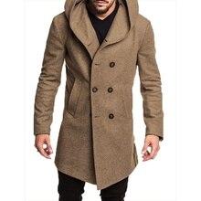 ZOGAA 2019 Fashion Mens Trench Coat Jacket Spring Autumn
