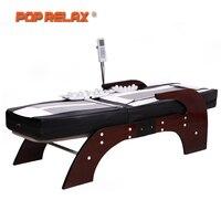 POP RELAX Корея Нефрита Массажный кровать электрическое отопление камня нефрита позвоночника Relax массажер здравоохранения всего тела роликовы