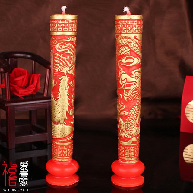 Chinese traditional candles paraffin wax dragon phoenix general chinese traditional candles paraffin wax dragon phoenix general candle for mariage wedding decoration candle supplies wax junglespirit Image collections