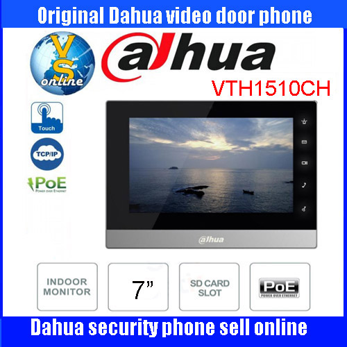 Original English firmware DAHUA Video Intercom VTH1510CH Door Phone System 7-inch Color Indoor Monitor touch scree DH-VTH1510CH original 7 inch touch screen dahua dh vth1550ch color monitor with to2000a outdoor ip metal villa outdoor video intercom system
