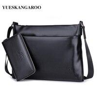 YUES KANGAROO High Quality Men S Messenger Bags Shoulder Handbag Bags Briefcase Brand PU Leather Business