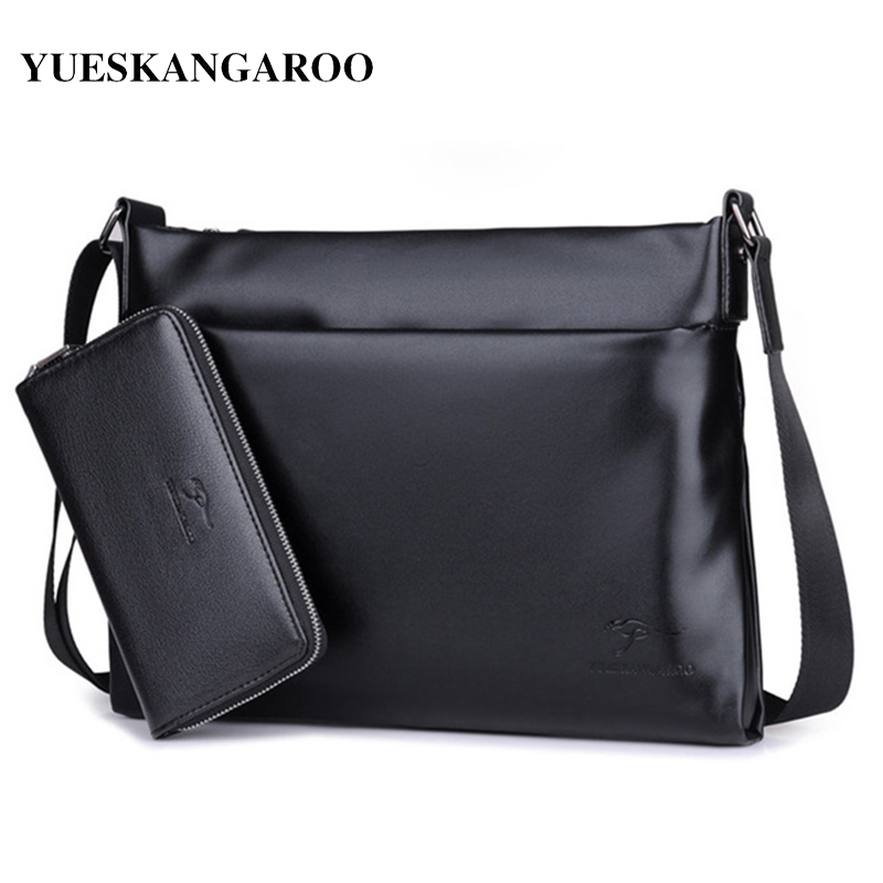 YUES KANGAROO Högkvalitetsmäns Messenger Bag Mjuka Läder Crossbody - Handväskor
