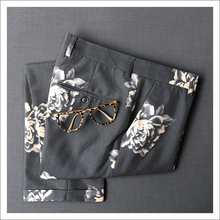 2018 Men Suit Pants Male Business Pants Men's Suits Western Formal Dresses Wedding Pant Trousers Black Printing Flower 365kz06