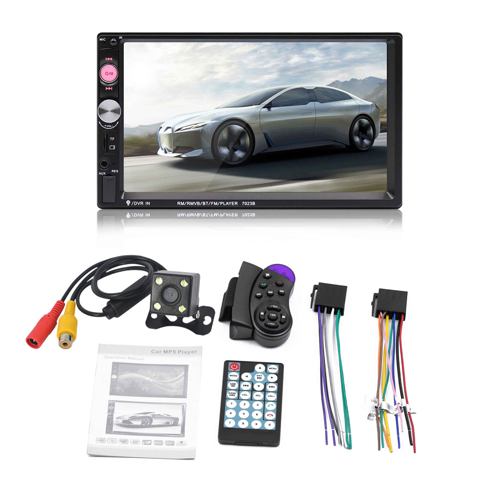 Rear view camera Car Radio Bluetooth 2din Car Multimedia Player 7″ HD Touch Autoradio MP5 USB Audio Stereo wheel controller