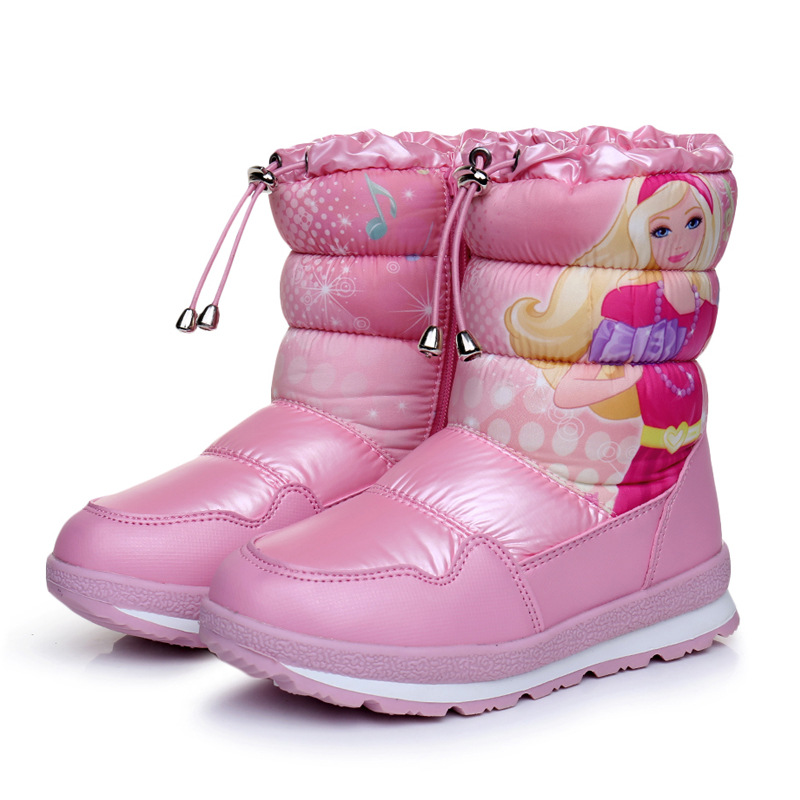 New 2018 Children Snow Boots for Girls Shoes Winter Warm Boots Fashion Plush Non-slip Kids Shoes Sneakers Children Boots стоимость