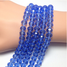 One Stand 4/6/8/10/12mm Crystal Beads Faceted Glass DIY Jewelry Making Beads Wholesale