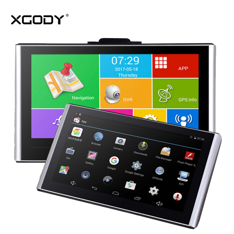 Xgody Dvrs Navigation Dash-Camera Android Gps Wifi 7inch With 16GB 512M HD 1080p Video-Recorder