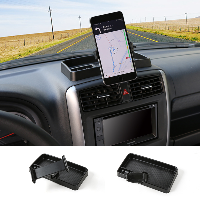 Black ABS Mobile Phone Holder Cell Phone Stand Tablet PC Stand Holder Car for Suzuki Jimny 2008 up mobile holder