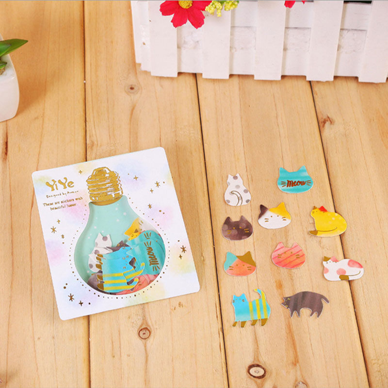 1X pack Creative Light bulb series sticker decoration decal diy Cartoon Scrapbooking Stickers scrapbooking Album Deco Sticker in Stationery Stickers from Office School Supplies