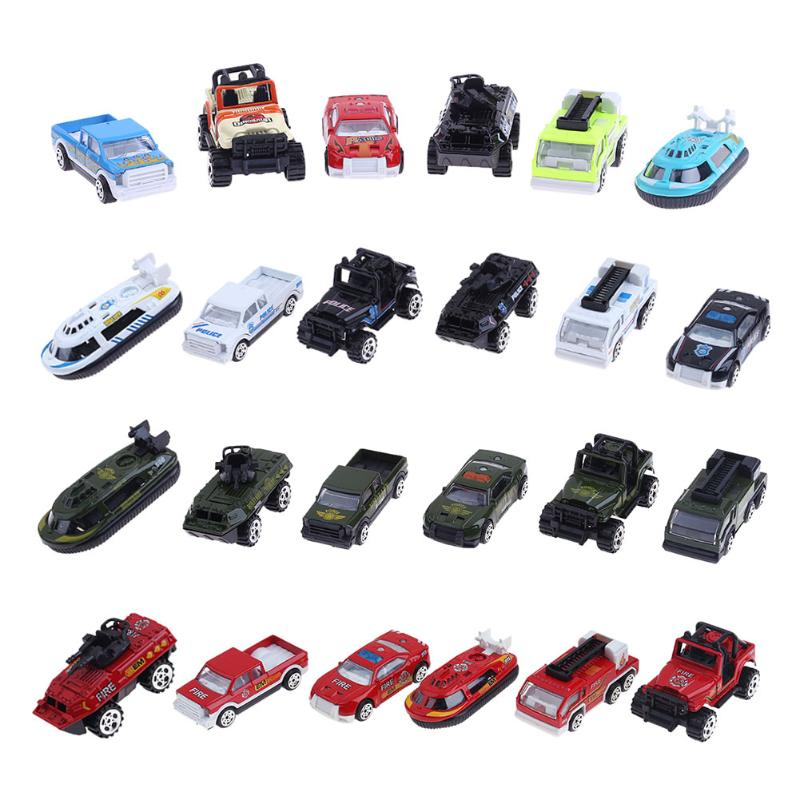 6Pcs/set Mini Alloy Military Engineering Car Model Diecast Kids Children Educational Toys for Christmas Gift ...