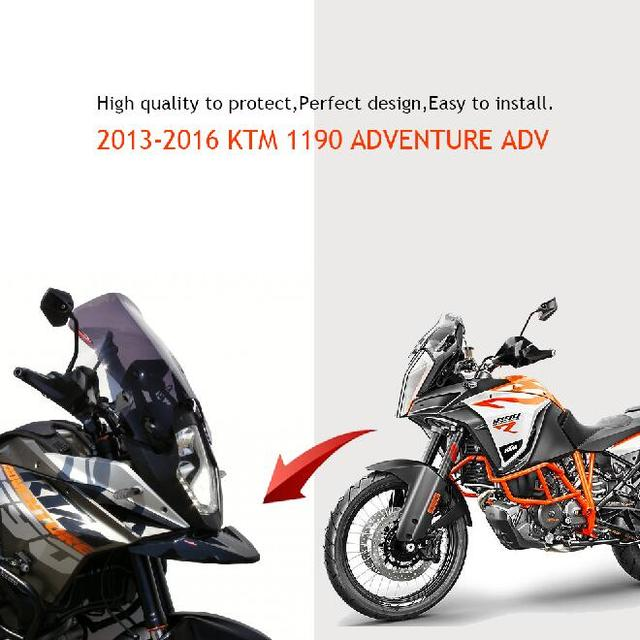 For KTM 1190 ADVENTURE ADV Motorcycle Frame Front Nose Fairing Beak Cowl Protector Fender 2013 2014 2015 2016
