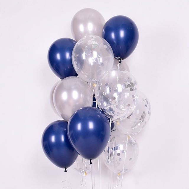 15pcs 12inch Luminous Blue Latex Balloons with Clear Transparent Star balloons for Wedding Decorations Birthday Party Globos 5