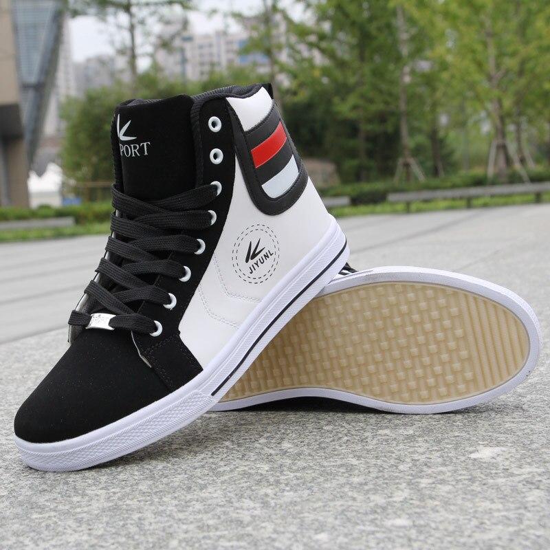 Image 4 - Fashion Men Leather Boots Winter Warm Cotton Ankle Boots Hip Hop Casual Men Shoes Autumn High Top Shoes Man Sneakers Big Size 45Basic Boots   -