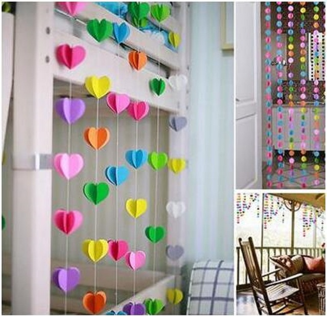 New 3D Paper Garland For Baby Shower Children Kids Birthday Party