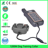 Dog Chewy Training Collar 100 Waterproof 1200meter For Small Medium Large Puppy With Remove Beep Sound