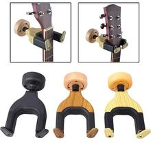 Yuker Wall Mount Guitar Hanger Holder Keeper Auto Grip System Lock Round Base for Electric Acoustic Guitars String Instrument