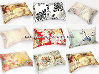 Free Shipping 100 Silk Pillowcase Oxford Standard Size 20 26 Inches 2 Sides Silk Pillow Case