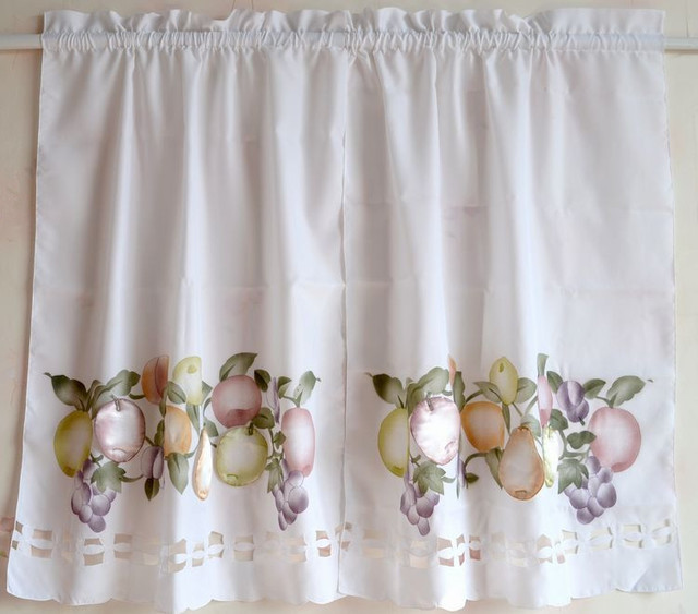 Fruit Kitchen Curtains Awesome Decorating Design