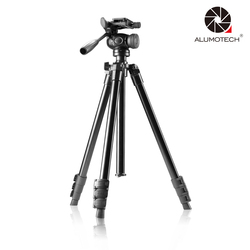 ALUMOTECH Max Load 4kg 3D Cradle Head Light Weight Tripod Stand+Carry Bag For Camera Video