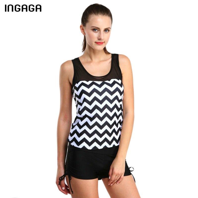 INGAGA 2018 וינטג Tankini סט בגדי ים נשים בגדי - בגדי ספורט ואביזרים