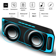 LIGE Bluetooth Speaker Wireless Portable Stereo Sound Big Power 10W System MP3 Music Audio AUX With MIC For Android Iphone(China)