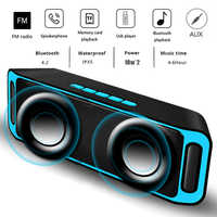 LIGE Portable Bluetooth haut-parleur Portable sans fil haut-parleur système de son 10 W stéréo musique surround étanche haut-parleur extérieur
