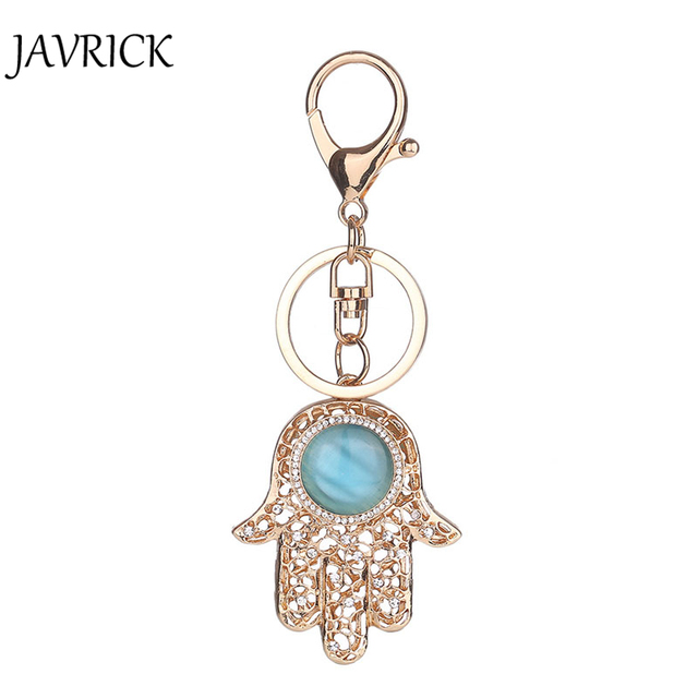 Javrick 2017 Fatima Hamsa Hand Keychain Symbols Charm Amulet