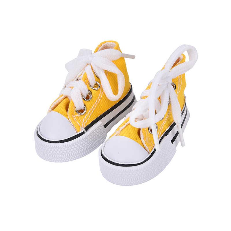 1 par de zapatos de lona de mezclilla de 7,5 cm para BJD muñeca de juguete Mini zapatos de muñeca para botas de muñeca Sharon muñecas Sneackers accesorios gran oferta