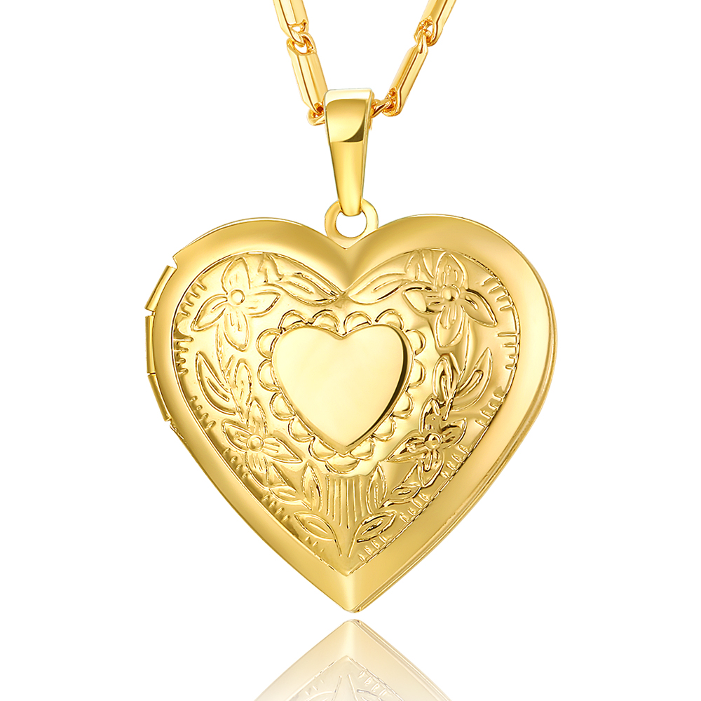 lockets necklace amazon heart fashion plated pendant shaped photo gold com open dp women locket jewelry
