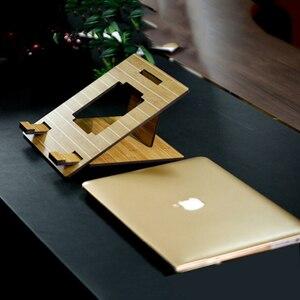Image 4 - Arvin 인체 공학적 노트북 스탠드 macbook pro 접이식 냉각 노트북 홀더 조정 가능한 휴대용 pc 스탠드 lapdesk suporte notebook