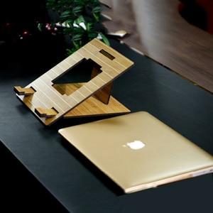 Image 4 - לארווין ארגונומי מחשב נייד Stand עבור Macbook Pro מתקפל קירור מחשב נייד מחזיק מתכוונן נייד מחשב Stand lapdesk Suporte מחברת