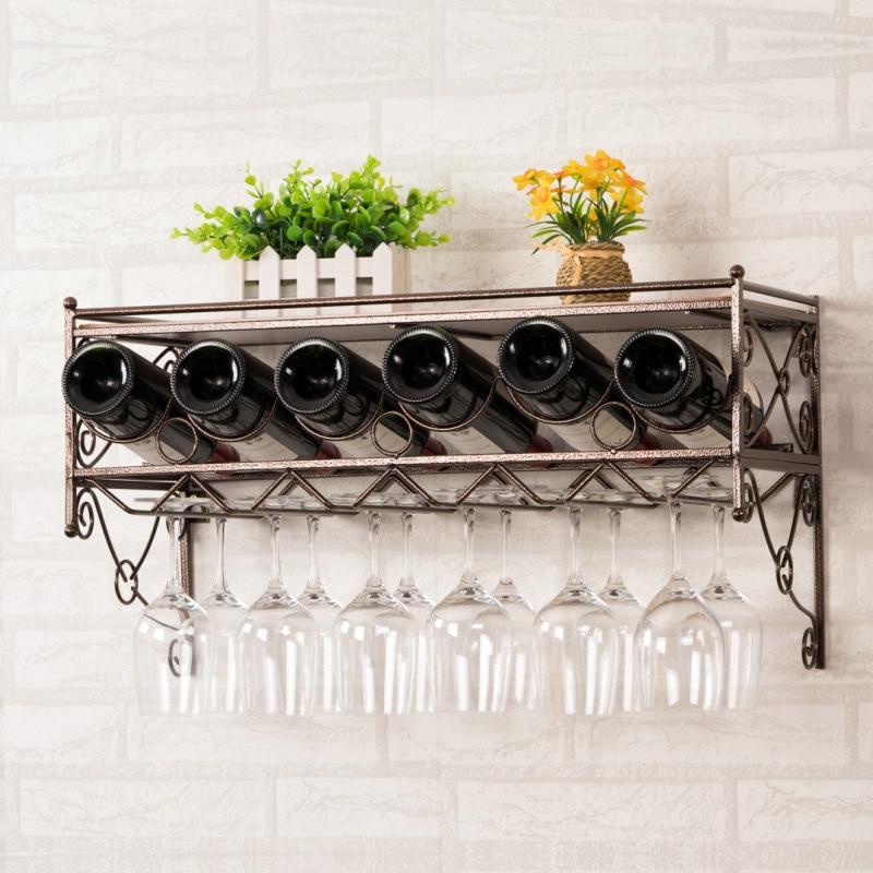 Metal Wall Wine Rack Hanging Wine Cup Rack Hanging Upside Down Wine Display Wine Goblet Rack Hanging Cup Holder