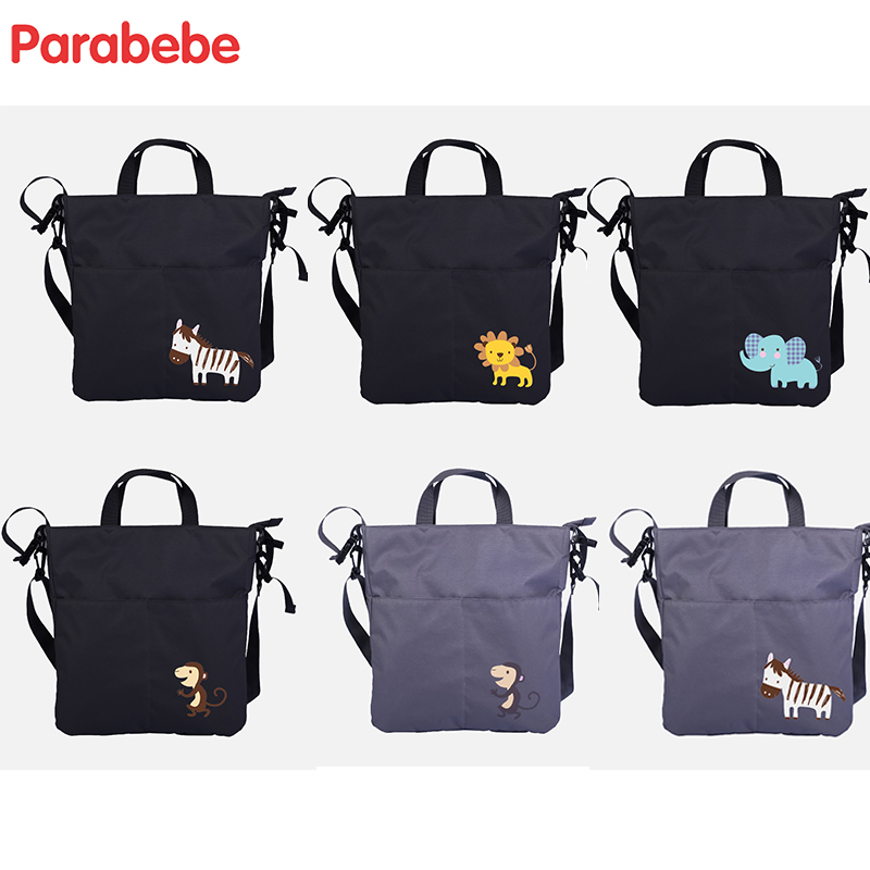 portable baby bag for stroller Tote maternity diaper bag for mom baby care stroller bag for cart wheelchairs nappy organizer thermal insulation baby diaper bag for stroller waterproof nappy changing bags mommy stroller cart bag cooler bag for mom