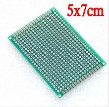 5pcs/lot Double-Sided Protoboard Breadboard 5X7CM Universal Board 5cm x 7cm for Arduino