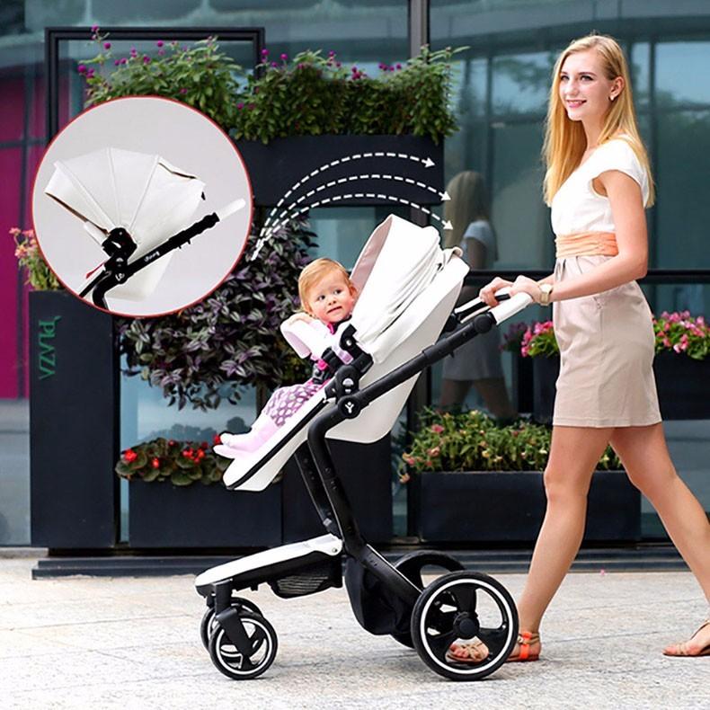 Foofoo wózka dziecięcego Wysokiej krajobrazu może zmienić na spania koszyk skóry 6